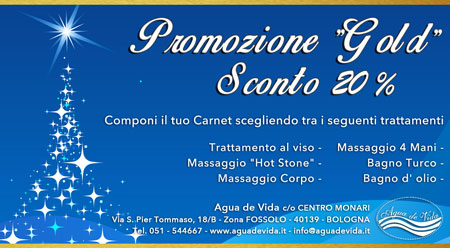 promozione gold natale 2014 agua de vida centro estetico bologna